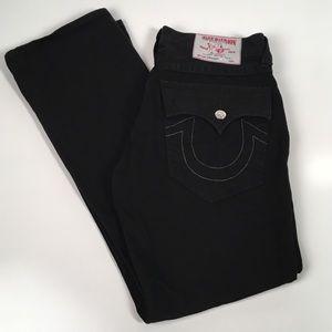 True Religion men's straight jeans black 34 waist